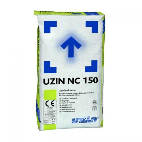 Plonasluoksnis savaime išsilyginantis cementinis mišinys UZIN NC 150 nuo 0 iki 10 mm storio